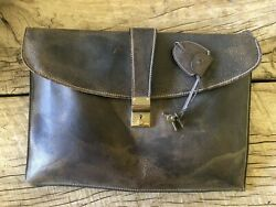 Gucci Document Case Antique with lock and keys $120.00