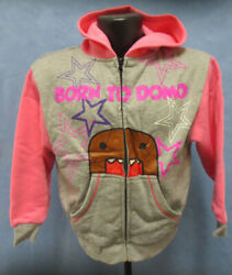 DOMO YOUTH MEDIUM 10 12 HOODIE HOODY SWEATSHIRT KIDS CARTOON MASCOT GIRLS PINK $19.95