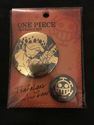 One Piece Trafalgar Law Pin Badge Button Set $19.99