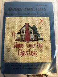 Spare Time Kits quot;Warm Country Christmasquot; Mini Beginner Counted Cross Stitch Kit $4.99