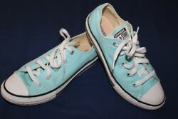 Converse Chuck Taylor All Star Youth Girls Canvas Low Top SIZE 2 Aqua Blue $11.95