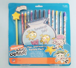 Nickelodeon The Fairly OddParents 14 pc. Stationary Pack Pencils Pens Note Pad $13.00