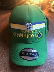 BRASIL WORLD CUP CHAMPION ADJUSTABLE CAP HAT by LEOPARD NEW $18.95