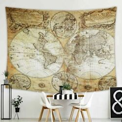 World Map Tapestry Wall Hanging for Wall Art Home Decor $17.99