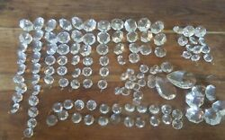 Lot vintage chandelier crystals prisms 120 teardrops octagons clear .5 to 2quot; C $75.00