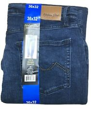 New Urban Star Men#x27;s Relaxed Fit Straight Leg Jeans Blue 36x32 $23.49