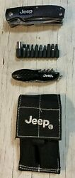 Pair Jeep Branded Multi Function Knives with Jeep Branded Sheath amp; Bits Used $69.95