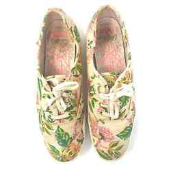 Keds x Rifle Paper Co. Champion Low Top Floral Sneaker Pale Pink Size 9.5 $36.79