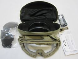 OAKLEY MILITARY TACTICAL GOGGLES FDE COYOTE 2.0 CLEAR amp; DARK LENS KIT $99.95