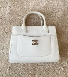 Chanel Neo mini Executive Bag With Two Handles White Calfskin Leather $2480.00