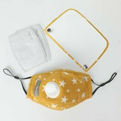 Kids star Face Mask With Eye Shield and Filter Yellow US Stock $5.00