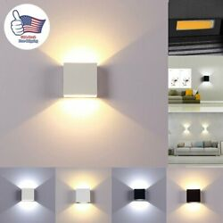 Cube LED Wall Lights Modern Up Down Sconce Lighting Fixture Lamp Indoor Outdoor $10.43