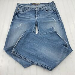 Big Star Womens The Legendary Blue Jeans Maddie Boot Cut Mid Rise Fit Size 29 L $24.00