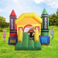Inflatable Bounce Castle House Crayon Jumper Moonwalk Bouncer Without Blower $135.99
