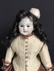"""Vintage Reproduction Antique China Porcelain Doll 21"""" Glass Insert Eyes $117.00"""