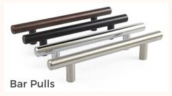 5 10 25 Pack Solid Bar Pull Kitchen Cabinet Door Handles Multiple Finishes $28.80