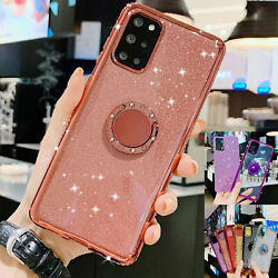 For Samsung A11 A21s A51 A71 5G Case Bling Shockproof Ring Holder Stand Cover $8.99
