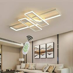 Modern Ceiling Lamp LED Stepless Dimming with Remote Control Geometric Light $98.00