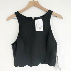 Speechless Black Cropped Top 13 Scallop Hem Cocktail Party Juniors Womens New $16.99