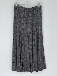 Chicos Black And White Skirt Size 1 M $16.99