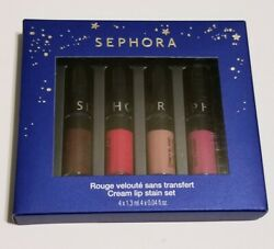 """Sephora Collection """"CREAM LIP STAIN SET"""" Limited Edition 4 Mini Shades VERY RARE $12.99"""