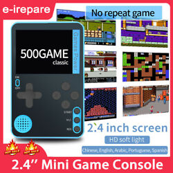 2.4#x27;#x27; Mini Handheld Retro Video Game Console Built in 500 Classic Games Console $17.99