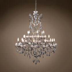 GATSBY LUMINAIRES 701610 004 19th c. Rococo Chandelier 25 Light 41 Polished $2222.64