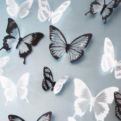 36pcs 3D Butterfly Wall Art Stickers Kids baby nursery Room Decoration Decals $3.49
