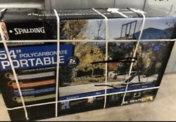 "SPALDING 54"" Polycarbonate Portable Backboard NBA Oficial Local Pick Up Only $229.99"