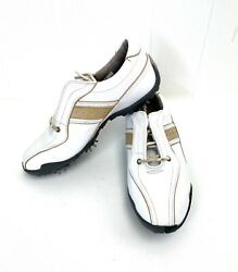 FootJoy Womens Golf Shoes Size 7M LoPro Collection White Full Grain Leather $27.99