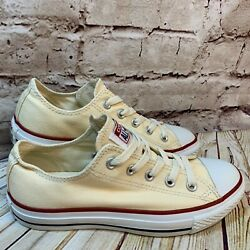 Converse All Star Womens Light Yellow Lows Size 6 $34.97