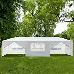 10#x27;x 30#x27;Party Tent Outdoor Gazebo Canopy Wedding With 8 Removable Wall White $149.55