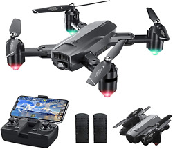 Dragon Touch DF01 Foldable Drone with Camera for Adults WiFi FPV Drone with 120 $114.99