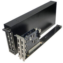 Pci e to double PCI 1X 16X slot adapter extension card mold extension version $138.00