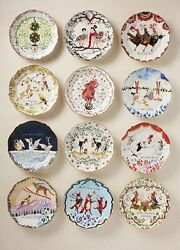 Inslee Fariss 12 Days of Christmas Plates COMPLETE SET NIB SOLD OUT $695.00