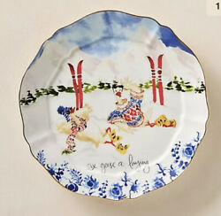 Anthropologie Inslee Fariss 12 Days of Christmas Plate 6 Geese A Laying NIB $55.00