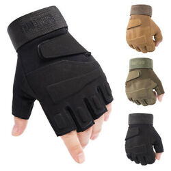 Fingerless Tactical Half Finger Gloves Men#x27;s Army Military Combat Airsoft Patrol $12.82