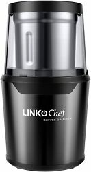 Kitchen Coffee Grinder Electric Linkchef Nut Spice 250W With Large Capacity Deta $33.48