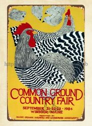 metal kitchen wall art Common Ground Country Fair Poster 1984 metal tin sign $16.95