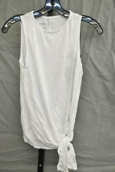 good hYOUman Mila Be Kind Be Cool Side Tie Tank Top Women#x27;s Size M White NEW $14.70