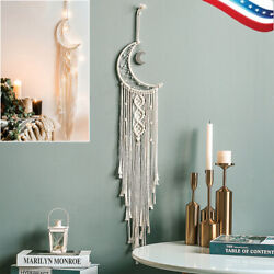 Handmade Moon Woven Cotton Dream Catchers Wall Hanging for Home Decor Ornament $13.69
