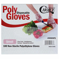 200 Disposable Poly Gloves Small Powder Free Clear General Purpose Latex Free $8.95