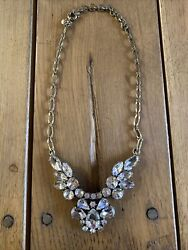 J Crew Crystal And Bronze Necklace – Definitely A Statement Piece $15.99