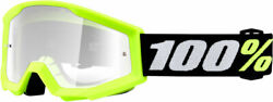 100% MX Motocross Kids PeeWee STRATA Mini Goggles Yellow w Clear Lens Youth $20.39