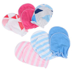 6 Pairs Thin Breathable Baby Gloves Anti grab Anti scratch Face Newborn Gloves $7.91