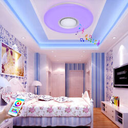 Bluetooth LED Fixtures Ceiling Mount Light w Speaker Color Changing Kids Bedroom