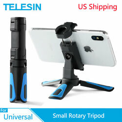 TELESIN Mini Selfie Stick Tripod Phone Clip With Cold Shoe For GoPro Telephone $14.19