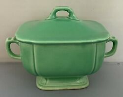 Homer Laughlin Vintage Riviera HLC Vintage Sugar Bowl With Lid Green Fiestaware $25.95