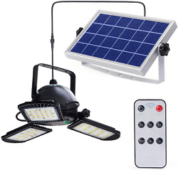 Lioyer Solar Powered Garage Lights Indoor Outdoor with Remote Control 60LED Shop $51.41
