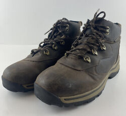 Timberland Waterproof Boys 5.5 Brown Leather Lace Up Hiking Boots 66961 $25.77